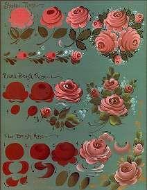 Simple rose techniques by Jo Sonja.