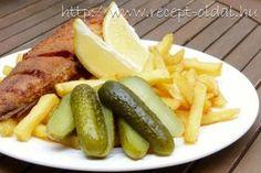 Hekk halsütő módra Fish Recipes, Seafood Recipes, My Recipes, Hungarian Recipes, Pickles, Cucumber, Bacon, Beef, Dishes