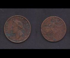 1826 United Kingdom of Great Britain & Northern Ireland 1 Farthing Circulated Copper Coin