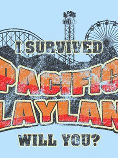 Pacific Playland T-Shirt - http://teecraze.com/pacific-playland-t-shirt/ -  Designed by robotrobotROBOT    #tshirt #art #fashion #Zombieland