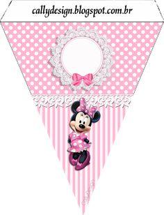 bandeirolas para varalzinho minnie rosa 2 Minnie Mouse Birthday Decorations, Minnie Mouse Theme Party, Mickey Mouse Birthday, Mouse Parties, Mickey E Minnie Mouse, Minnie Mouse Images, Free Printable Banner, Free Printables, Party Kit