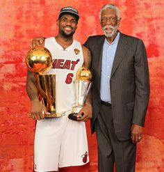 "LeBron finally got his ring - only 10 more to go until he reaches Bill Russell. The former Celtics legend and 11-time champion poses with James after Miami beat Oklahoma City for the NBA title on Thursday. James recorded a triple-double in leading the Heat to 121-106 victory. (Nathaniel S. Butler/Getty Images)  ROSENBERG: LeBron finally wins his first NBA titleTHOMSEN: ""Easy"" path turned out to be hardestGALLERY: SI's Best Photos From Game 5"
