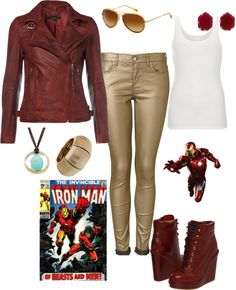 """Iron Man Inspired"" by pamnken on Polyvore"