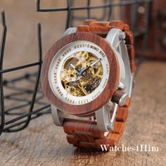 Cheap wood band, Buy Quality wood watches wood directly from China wood wood Suppliers: BOBO BIRD Wood&Steel Exposed Mechanical Watch Wooden Band Vintage Bronze Skeleton Male Antique Steampunk Casual Automatic Linear Gradient, Mens Designer Watches, Steampunk, Skeleton Watches, Wood Steel, Wooden Watch, Wooden Case, Cool Watches, Men's Watches