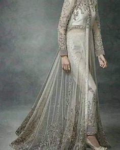 As a result, couture bridal gowns are tailor made for a specific customer. Pakistani Wedding Outfits, Bridal Outfits, Pakistani Dresses, Indian Dresses, Bridal Gowns, Indian Bridal Wear, Party Wear Dresses, Mantel, Designer Dresses