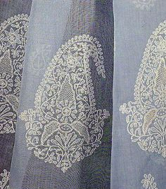 Chikan Embroidery of Lucknow, Uttar Pradesh. Different specialists work with different types of stitches. For example, open work is not done by embroiderers who do the filling work - each worker completes his/her bit and the fabric is then sent to the next embroiderer. The wages for each job are fixed separately.