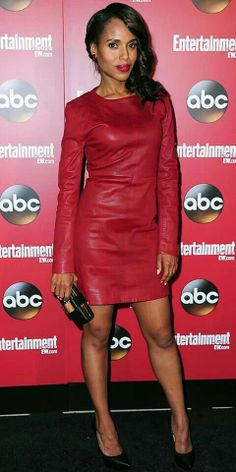 Kerry washington in marc jacobs red dress