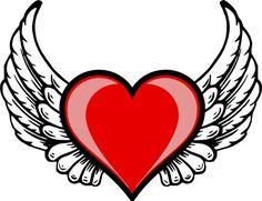 Heart Wing Logo clip art - vector clip art online, royalty free ...