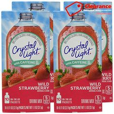 #Crystal #Light On The Go Energy Wild Strawberry is a kosher product, low in sodium and gluten free