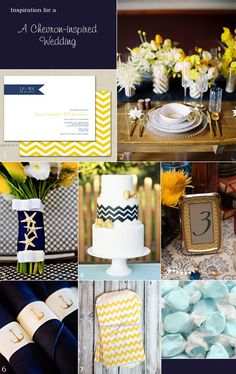 Chic Chevron Inspiration for a Nautical-themed Wedding