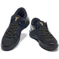 http://www.asneakers4u.com/ Nike Kobe 8 System Playoff Black/Gold
