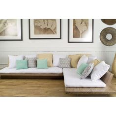 L-Shape Teak Spa Sofa « Andrianna Shamaris