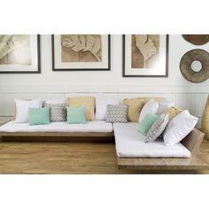 L-Shape Teak Spa Sofa « Andrianna Shamaris