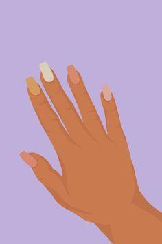 Nails Illustration Wallpaper | illustrations by HJC