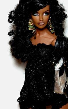 African Dolls, African American Dolls, Barbie Fashionista, Beautiful Barbie Dolls, Pretty Dolls, Fashion Royalty Dolls, Fashion Dolls, Ebony Models, Diva Dolls