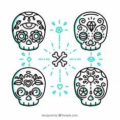 Cute mexican skulls