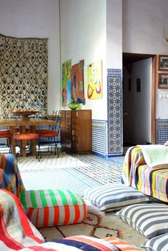House Tour: A Textured, Patterned Paradise in Morocco | Apartment Therapy