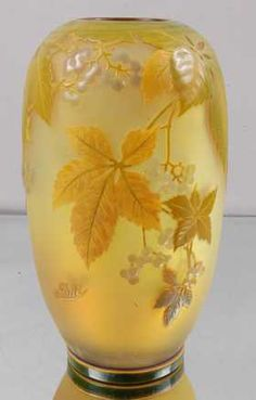 79: Emile Galle´ Cameo French Art Glass Vase