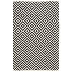 Nourison Mesa Geometric Black Rug (7'6 x 9'6)