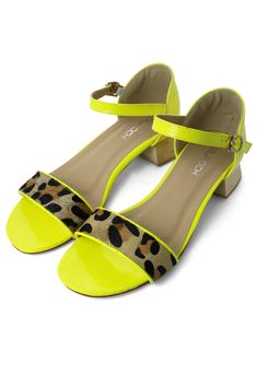 leopard and neon but what i really love is that chunky heel.