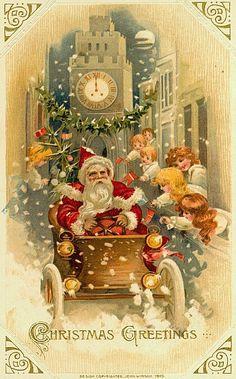 винтажные новогодние рождественские открытки: 24 тыс изображений найдено в Яндекс.Картинках
