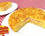 Recetas de tortilla de patata rellena de jamon y queso   Qué Recetas