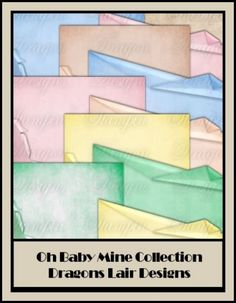 Oh Baby Mine Collection - Folded 12 x 12 Papers