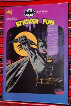 Batman Returns Sticker Fun Book 1992 Based On The Michael Keaton Tim Burton
