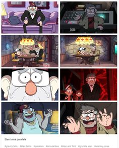 Stan twins parallels #gravity falls #stan twins #parallels