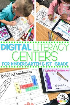 Whether you are teaching remotely or in person, digital literacy centers for kindergarten can be a great resource to use! For each digital kindergarten activity, students will need a device, and the kindergarten worksheets that go with the activity.