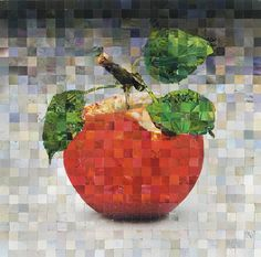 Jonathan's Best Mixed Media by Wendell Fiock Mosaic Glass, Mosaic Tiles, Glass Art, Paper Mosaic, Mosaic Crafts, Watercolor Quilt, Green Mat, Magazine Crafts, Mosaic Artwork