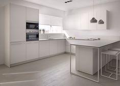 Serie 45 de Dica Kitchen Peninsula, Kitchen Island, Kitchen Cabinets, Bar, Home Improvement, Toilet, Kitchen Design, Dining, Bathroom
