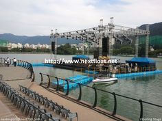 This is a floating music stage for K-POP star performance show in Korea. 대구에 설치되었던 수상무대입니다.