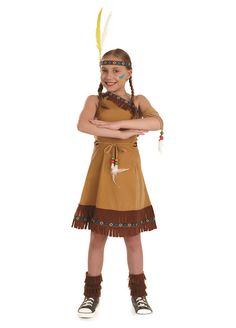 Indian Squaw Girl childrens dress up costume by Fun Shack