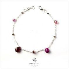 Red & Black Single Chain Bracelet Black Singles, Gemstone Bracelets, Red Black, Gemstones, Chain, Silver, Jewelry, Jewlery, Money
