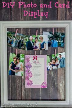 Personal DIY Mother's Day Gift: Rustic Framed Photo and Card Display Tutorial via @LovePastaBlog.  Display a collection of meaningful moments with Mom, add an @amgreetings card that expresses how much you care for an easy gift Mom is certain to cherish! Best Moms Day Ever SWEEPS Best Moms Day Ever SWEEPS AD