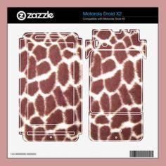 Giraffe Print motorola droid skin