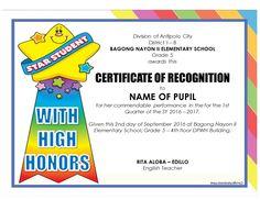 sample certificate of award
