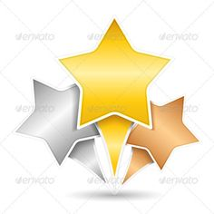 #Stars - #Web #Elements #Vectors Download here: https://graphicriver.net/item/stars/4020292?ref=alena994