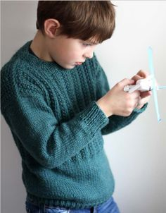 Youth boy sweater - FREE pattern from Berroco