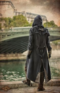 Not a permission, but a warning by S-Seith Assassin's Creed jacket cosplay costume LARP clothes equipment gear magic item | Create your own roleplaying game material w/ RPG Bard: www.rpgbard.com | Writing inspiration for Dungeons and Dragons DND D&D Pathfinder PFRPG Warhammer 40k Star Wars Shadowrun Call of Cthulhu Lord of the Rings LoTR + d20 fantasy science fiction scifi horror design | Not Trusty Sword art: click artwork for source