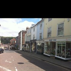 High street in Lewes, East Sussex