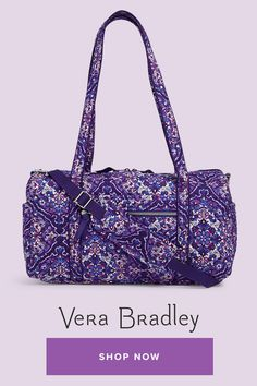 Our Iconic styles are a modern twist on our classic silhouettes refreshed with added functionality. Womens Luggage, Crochet Tote, Vera Bradley Tote, All Things Purple, Cute Bags, Duffel Bag, Shoulder Pads, Purses And Handbags, Travel Bags