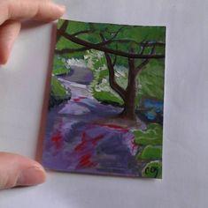 Woodland original ACEO painting £5.00