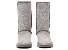 UGGS 5852 Classic Patent Paisley Grey For Women : Ugg Boots - Ugg Australia | Ugg Australia Boots | Ugg Sale