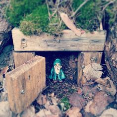 Looks like this little guy is welcoming you to the geocache.