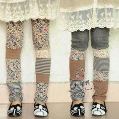 Frost mori girl style cotton patchwork trousers lolita cawaii winter warm basic legging floral print harajuku clothing