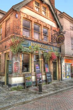 Hobgoblin Pub, 40 St Peter's Street, Canterbury, Kent, England ✯ ωнιмѕу ѕαη∂у England Ireland, England And Scotland, England Uk, The Places Youll Go, Places To See, Places To Travel, British Pub, British Isles, Canterbury England