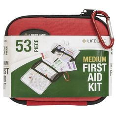 This 53 Piece first aid kit from Lifeline First Aid is an ideal addition to any 1 person or 2 person survival kit or an an accessory kit for the car. Comes in a sturdy hard shell case and has over 53