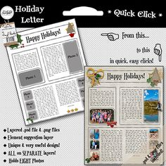 Creative Holiday Family Letters  Christmas Letter Ideas